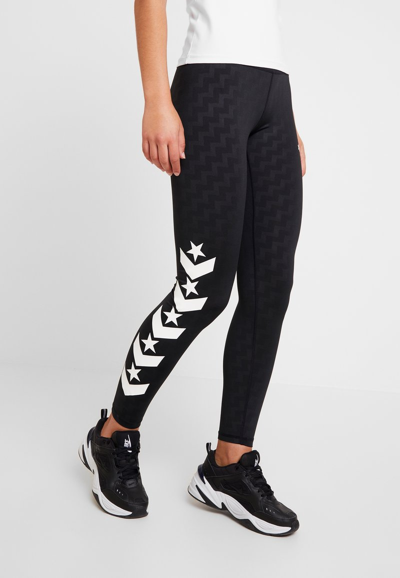 Converse - VOLTAGE - Leggings - Trousers - black