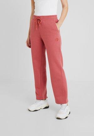 WIDE LEG RELAXED PANT - Pantaloni sportivi - light redwood
