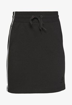TWISTED VARSITY SKIRT - Minisukně - black