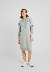 Converse - STAR CHEVRON DRESS - Kjole - vintage grey heather - 1