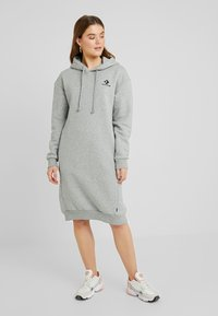 Converse - STAR CHEVRON DRESS - Kjole - vintage grey heather - 0
