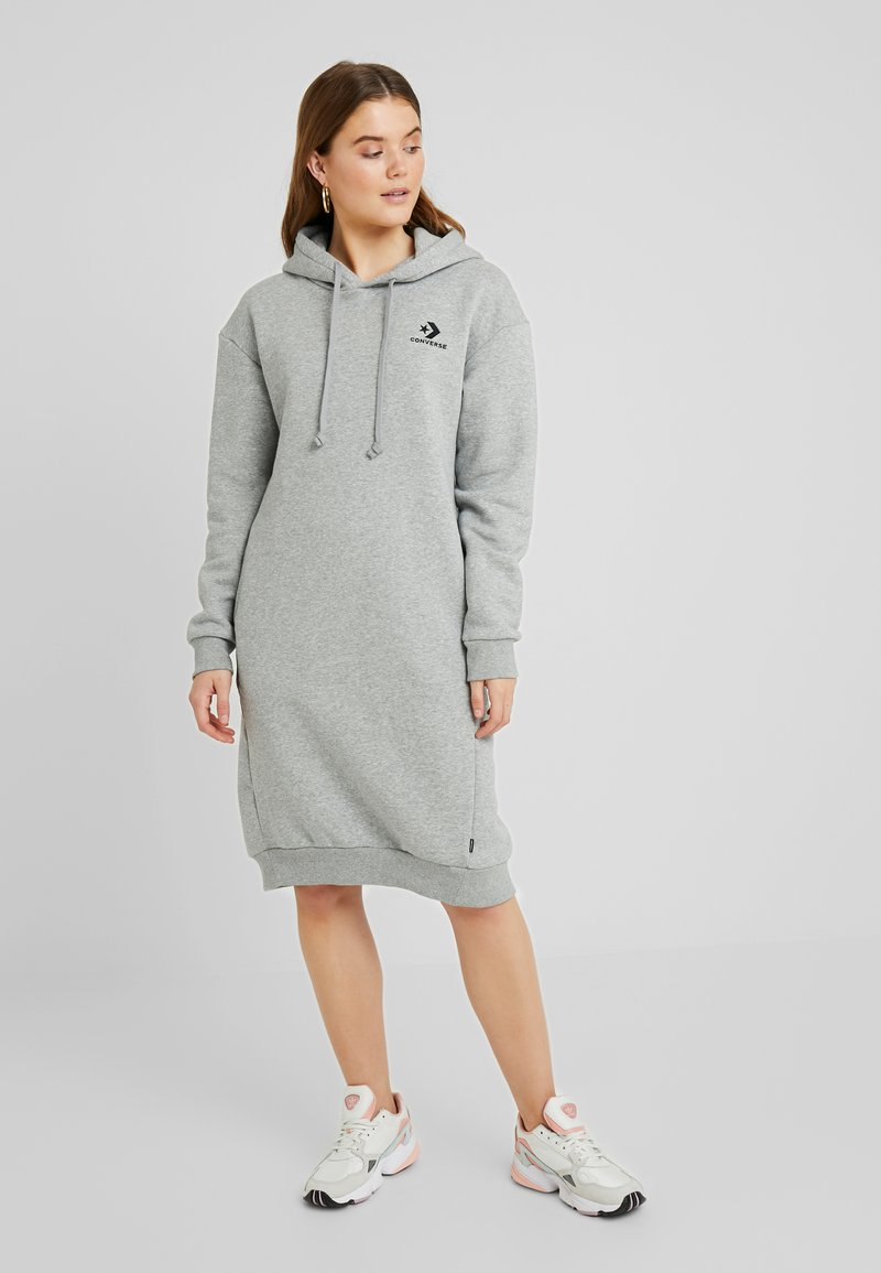 Converse - STAR CHEVRON DRESS - Kjole - vintage grey heather