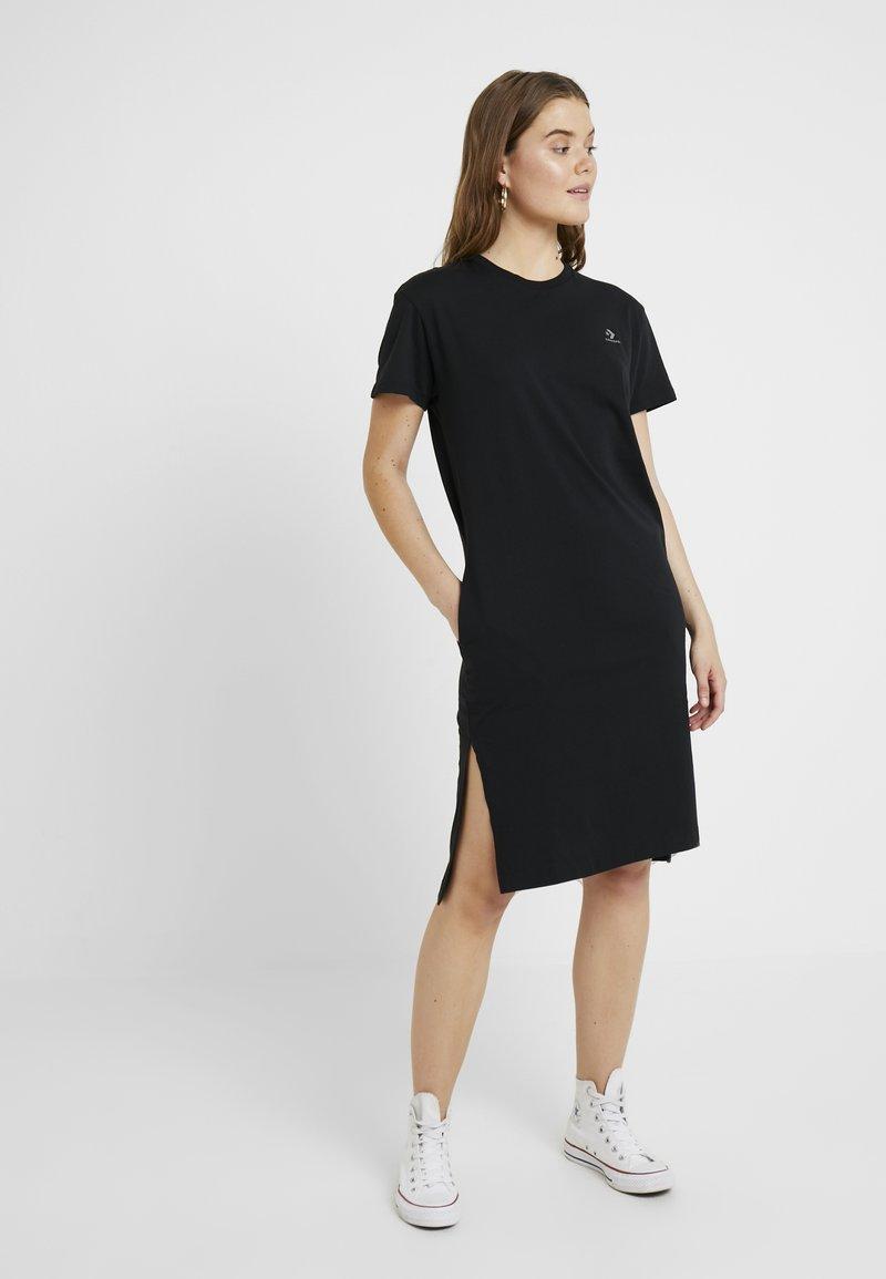 Converse - LONG TEE DRESS - Vestito di maglina - black