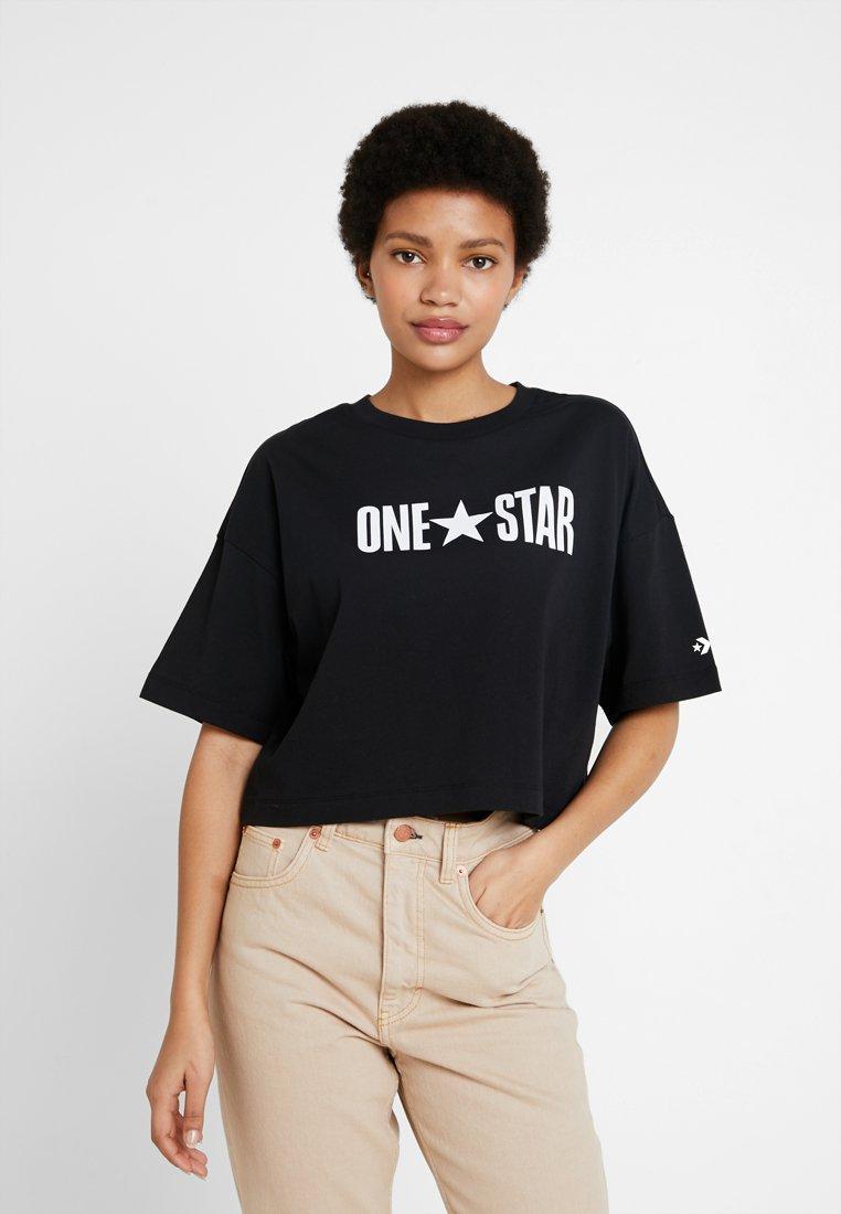 Converse - ONE STAR PRINTABLE BOXY TEE - Triko spotiskem - black