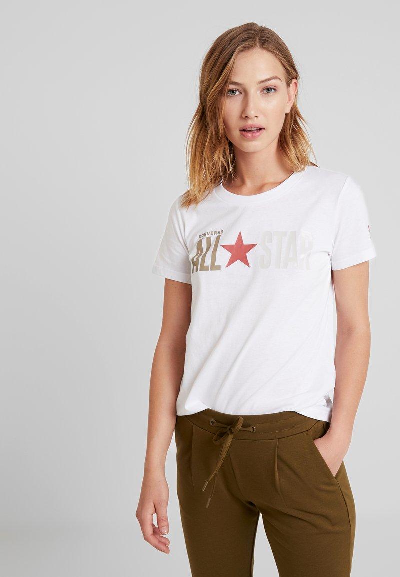 Converse - ALL STAR REMIX TEE - T-Shirt print - white