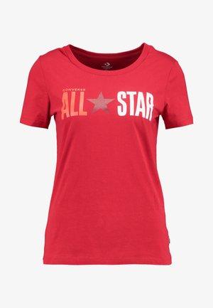 ALL STAR REMIX TEE - T-shirt imprimé - enamel red