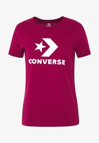 Converse - STAR CHEVRON TEE - T-shirt con stampa - rose maroon - 3