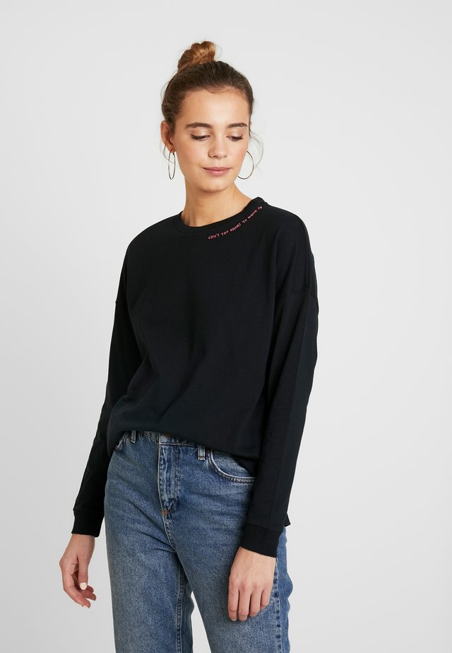 RENEW LIFES TEE - Topper langermet - black