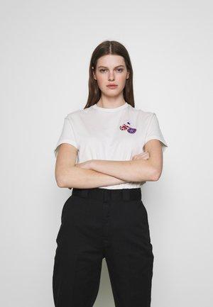 DISTORT SHORT SLEEVE - Print T-shirt - vintage white