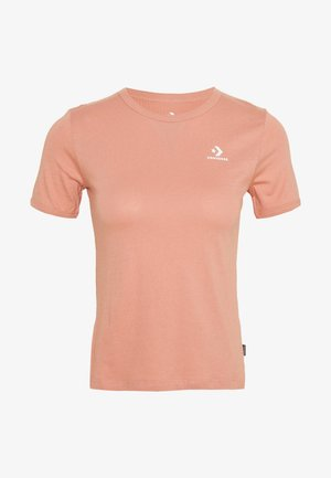 CONVERSE WOMENS SLIM TEE - Basic T-shirt - rose gold