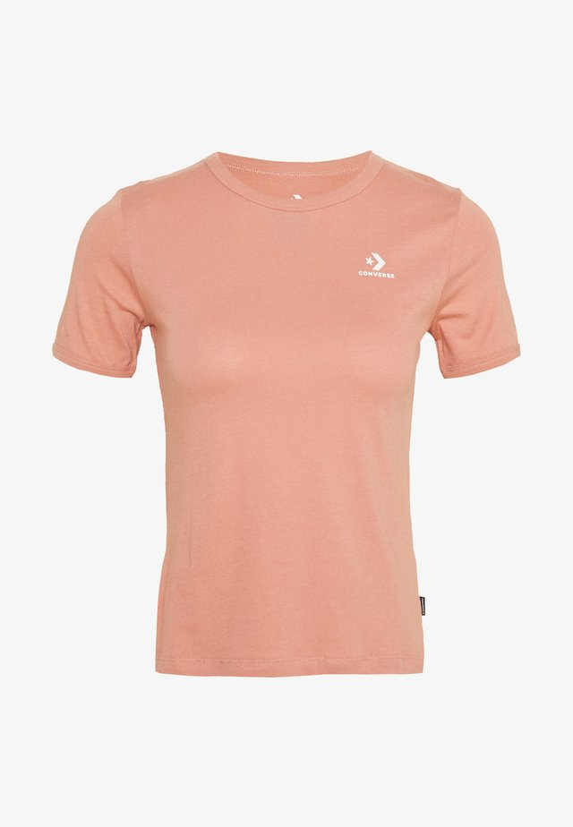 CONVERSE WOMENS SLIM TEE - Camiseta básica - rose gold
