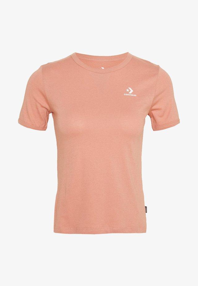 CONVERSE WOMENS SLIM TEE - T-shirt basic - rose gold