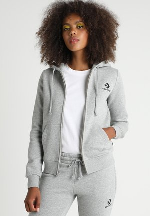 STAR CHEVRON HOODIE - Zip-up hoodie - vintage grey heather