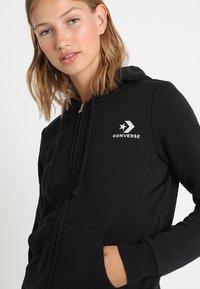 Converse - STAR CHEVRON HOODIE - Zip-up hoodie - black - 3