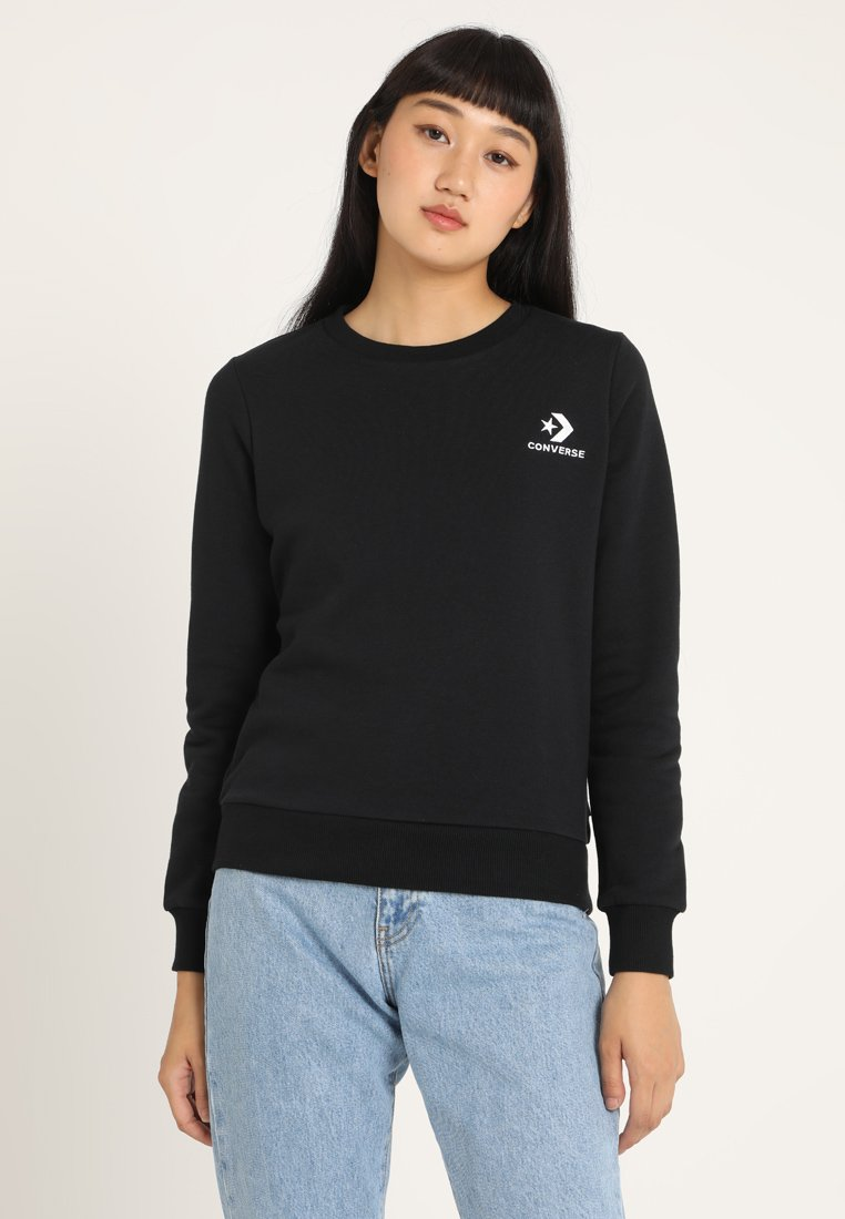 Converse - STAR CHEVRON CREW - Sweater - black