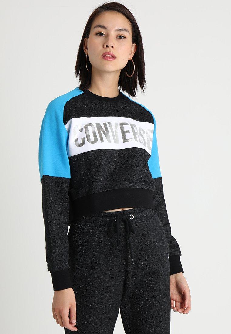 Converse - CROPPED CREW - Sweater - black