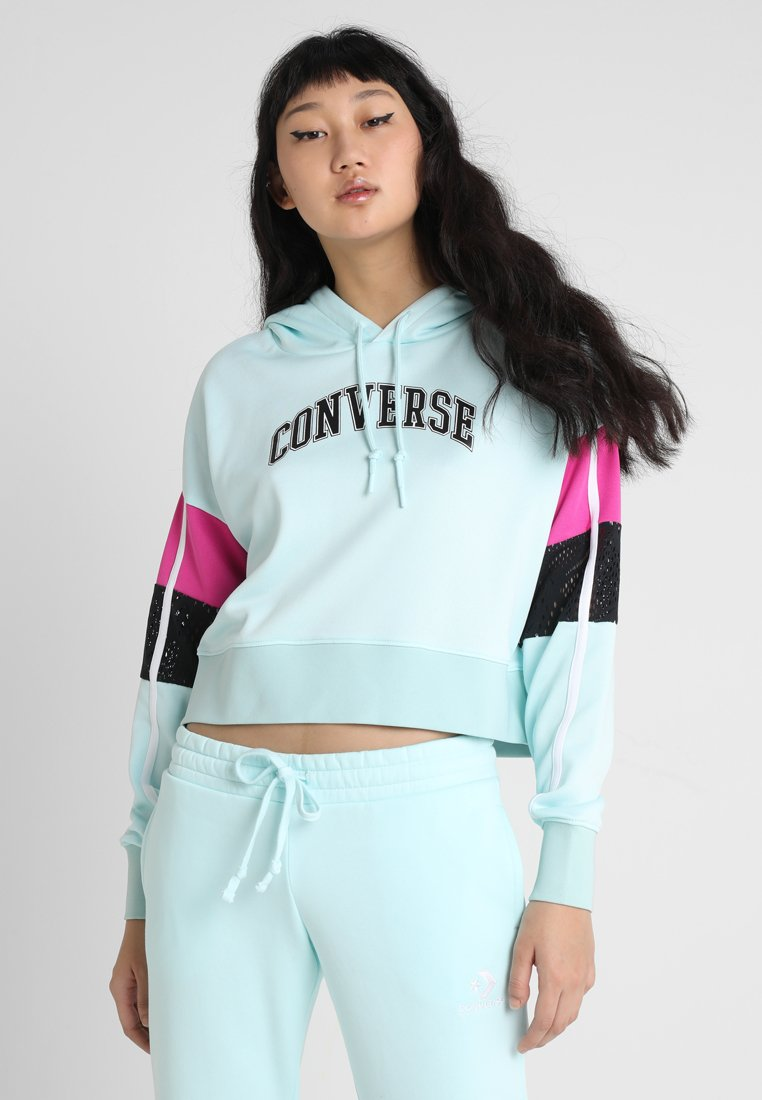 Converse - MASHUP MID HOODIE - Jersey con capucha - teal tint multi