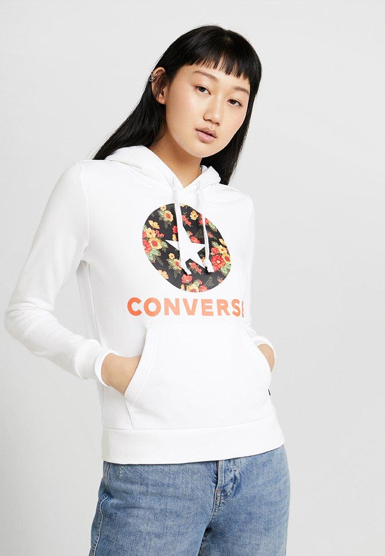 Converse - IN BLOOM PRINT HOODIE - Hoodie - white
