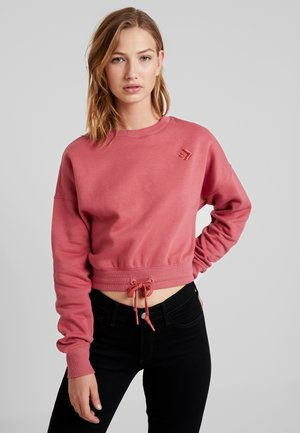 CROPPED CREW - Sweatshirt - light redwood