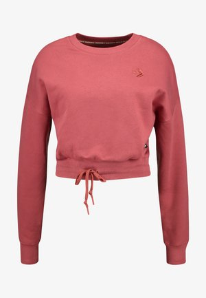 CROPPED CREW - Sweatshirts - light redwood