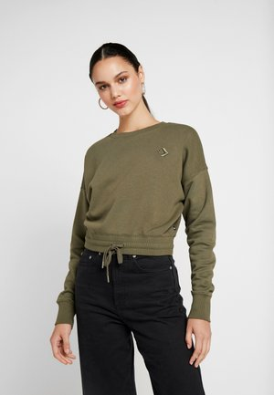 CROPPED CREW - Sweatshirt - olive