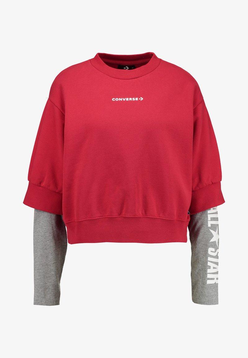 Converse CREW DOUBLE SLEEVES ALL STAR Sweatshirt enamel