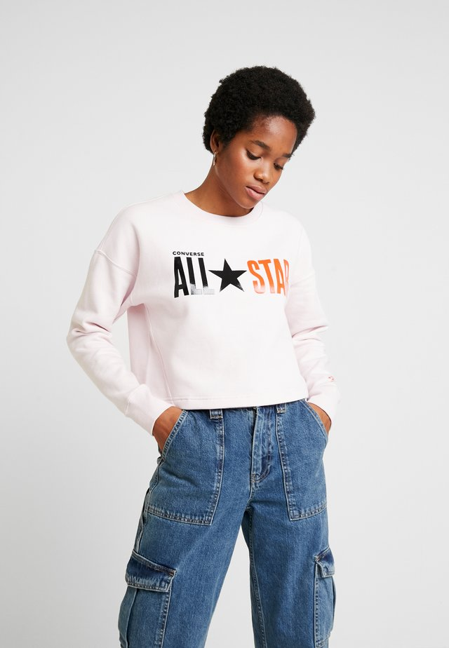 ALL STAR CROPPED CREW - Sweatshirt - barely rose