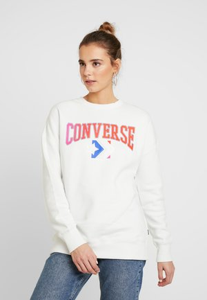 EMBROIDERED CREW - Sweatshirt - vintage white