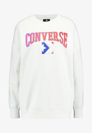 EMBROIDERED CREW - Sweatshirt - vintage white