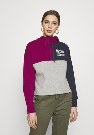 ALL STAR BRUSHED BACK HOODIE - Jersey con capucha - rose maroon/multi
