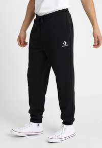 Converse - STAR CHEVRON PANT - Tracksuit bottoms - black - 0