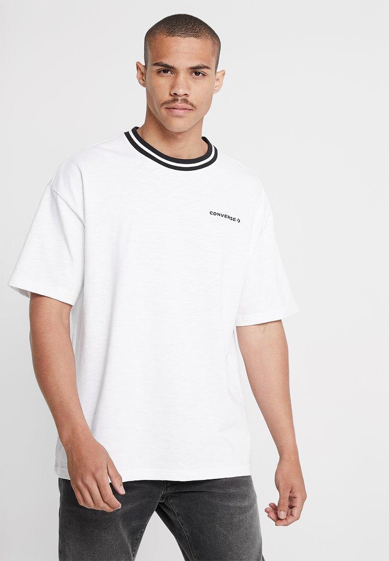 Converse - OVERSIZED RINGER TEE - T-Shirt basic - white