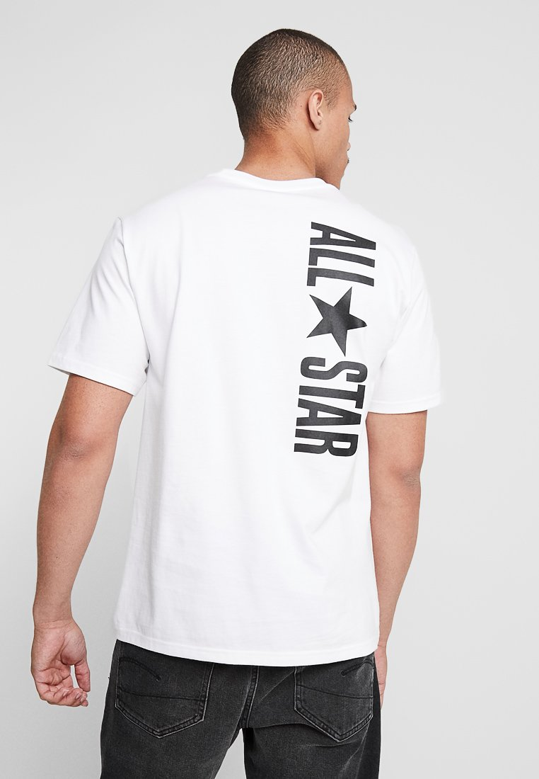 Converse - ALL STAR SHORT SLEEVE TEE - T-shirt med print - white