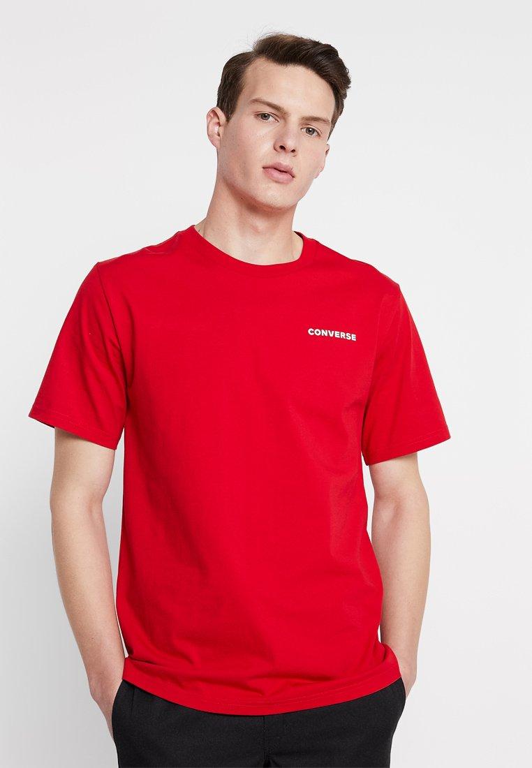 Converse - ALL STAR SHORT SLEEVE TEE - T-Shirt print - enamel red