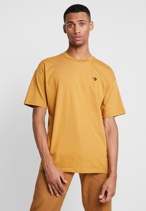 CHEVRON  OVERSIZE TEE - T-shirt basic - wheat