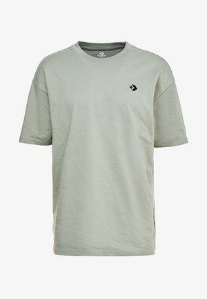 CHEVRON  OVERSIZE TEE - T-shirt basic - jade stone