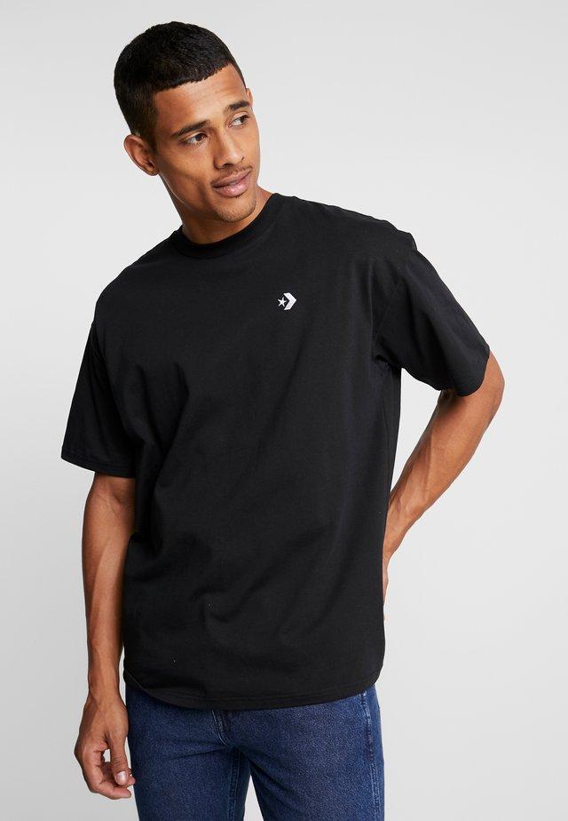 CHEVRON  OVERSIZE TEE - Basic T-shirt - black