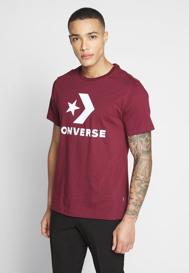 STAR CHEVRON TEE - Camiseta estampada - dark burgundy