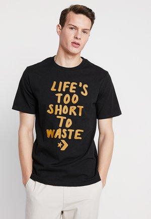 RENEW TEE - Camiseta estampada - black