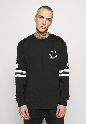 TWISTED VARSITY LONG SLEEVE TEE - Long sleeved top - black