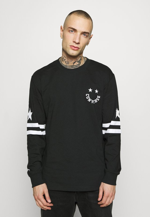 TWISTED VARSITY LONG SLEEVE TEE - Long sleeved top - black