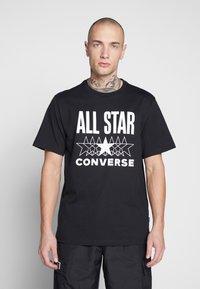 Converse - ALL STAR - T-shirt med print - converse black - 0