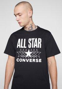 Converse - ALL STAR - T-shirt med print - converse black - 4