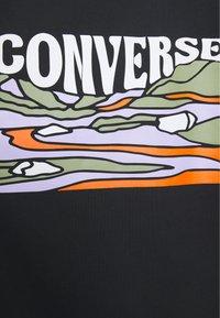 Converse - GROOVY TEE - Print T-shirt - converse black - 2
