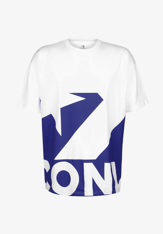 T-shirt print - white/blue