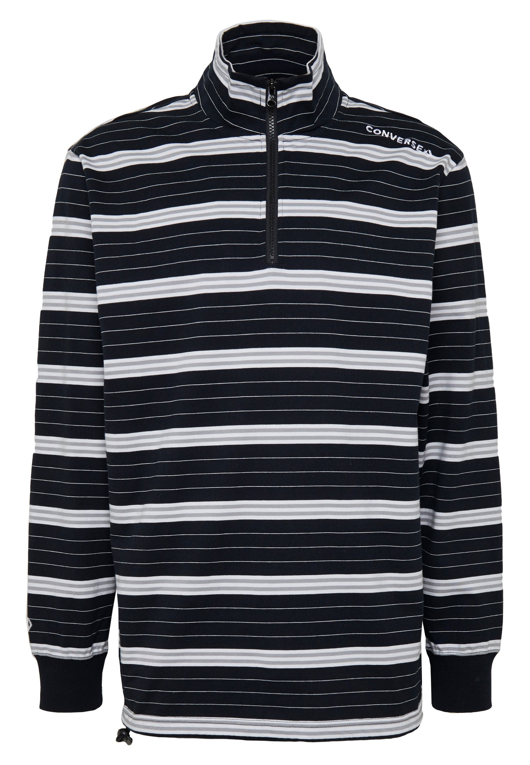 Converse TWISTED VARSITY RUGBY HALF ZIP - T-shirt à manches longues - black