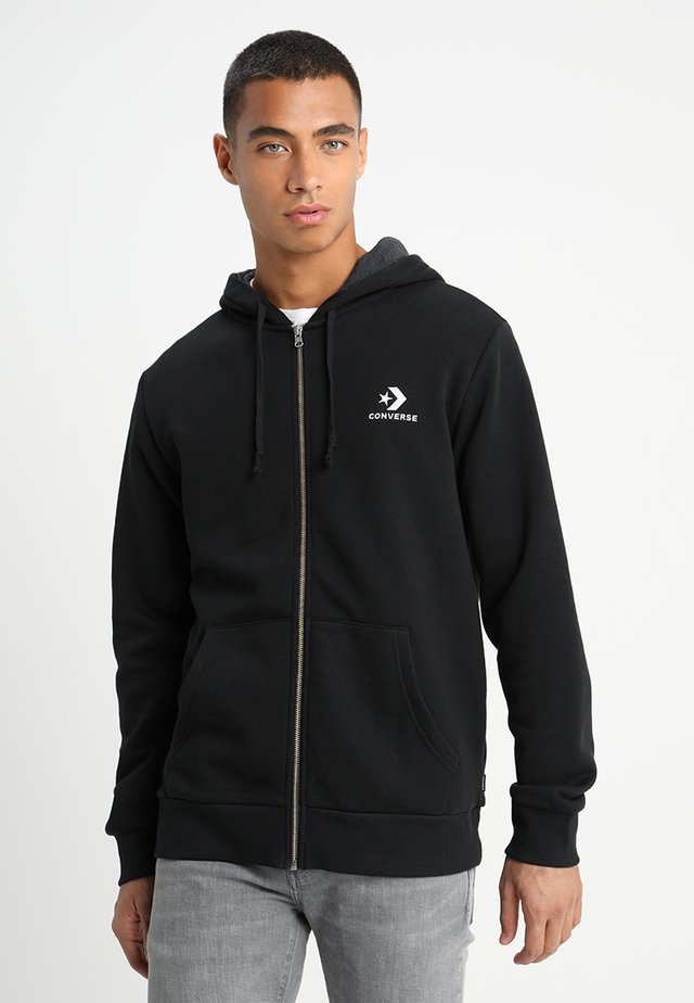 STAR CHEVRON - Zip-up hoodie - black