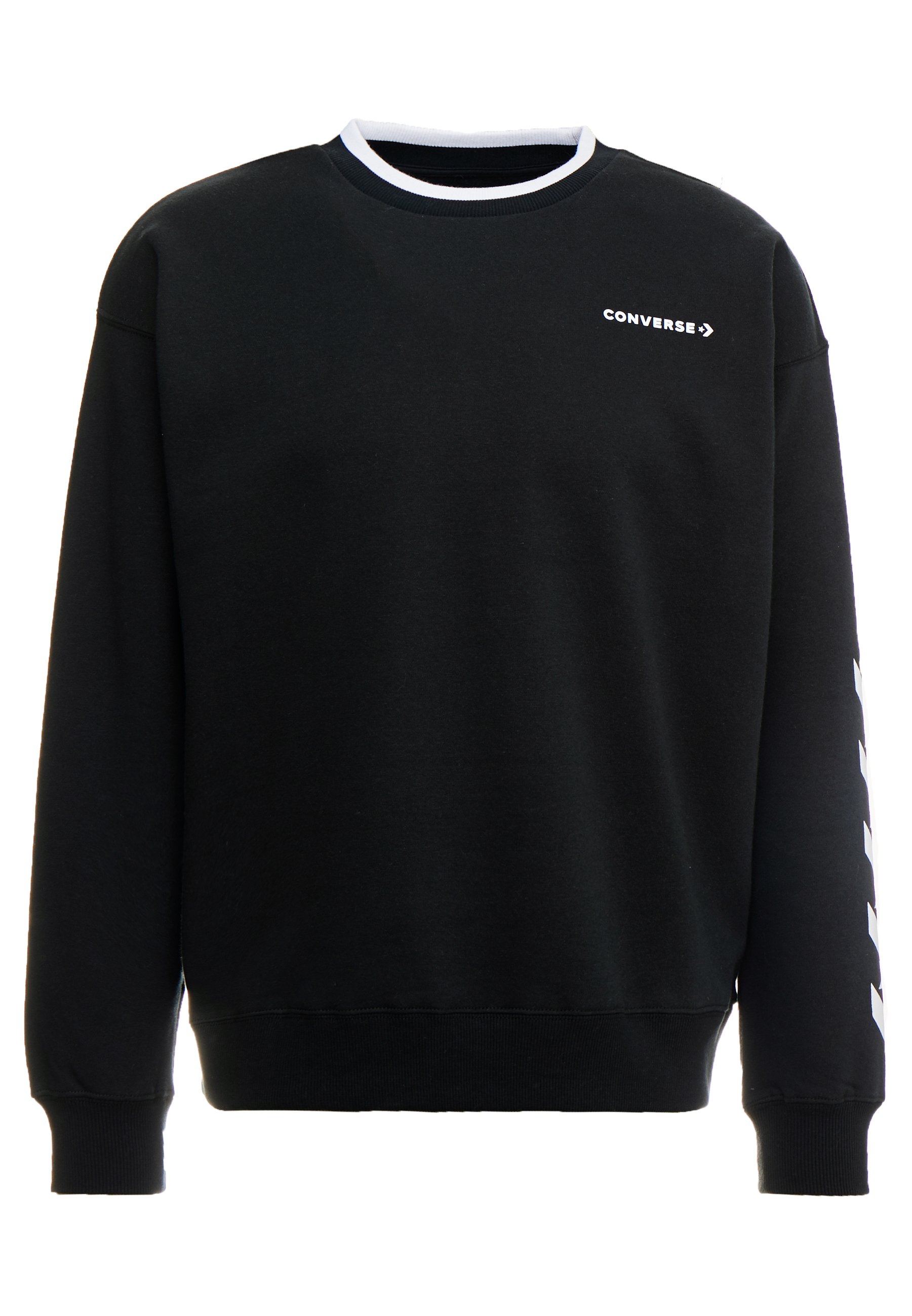 Converse Repeated Star Chevron Mock Neck Crew black