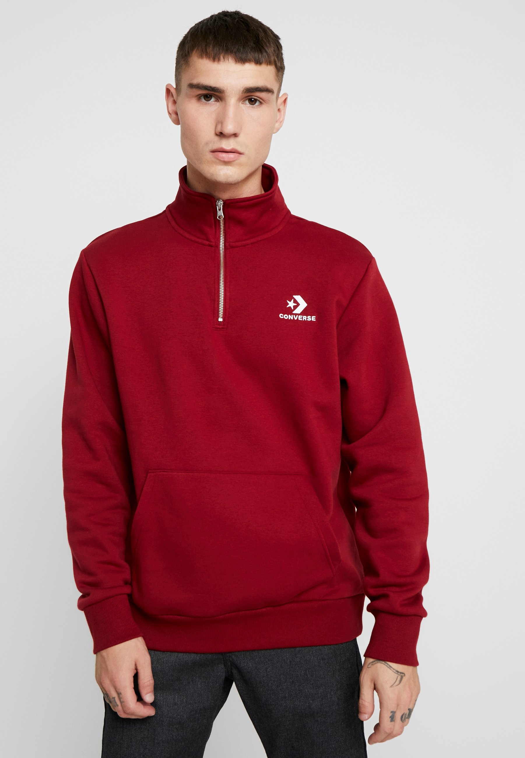 Converse STAR CHEVRON HALF ZIP - Sweatshirt back alley brick