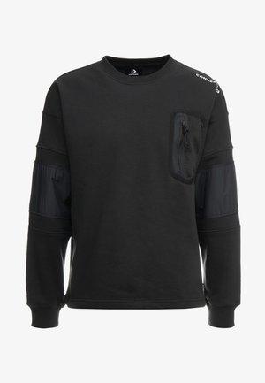 MIXED MEDIA RIPSTOP CREW - Sweatshirt - black